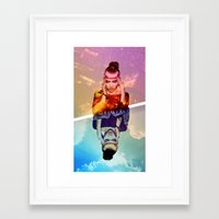 grimes Framed Art Prints featuring GRIMES by OmaPRINTS