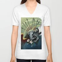 """dragon age V-neck T-shirts featuring Dragon Age - Qunari - Betrayal by Barbara """"Yuhime"""" Wyrowińska"""