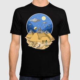 Alien Egyptian Pyramids T-shirt