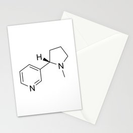 nicotine chemical formula Stationery Cards