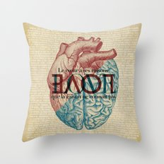 Love is...heart and reason Throw Pillow