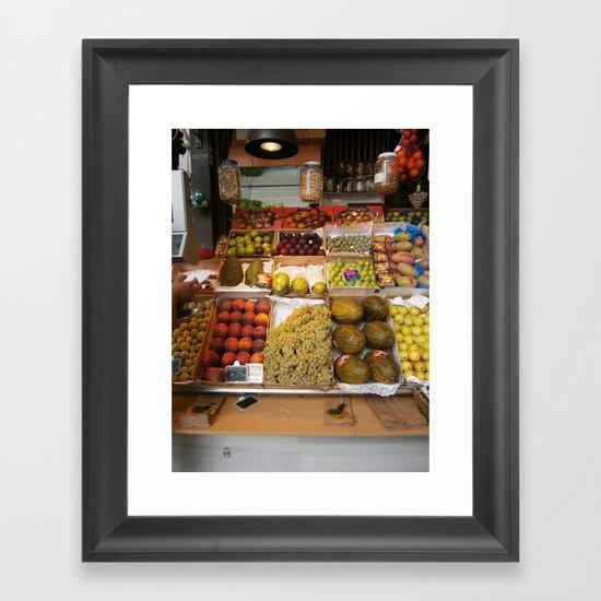 spanish produce  Framed Art Print