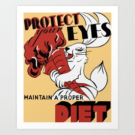 Protect Your Eyes - Maintain A Proper Diet Art Print