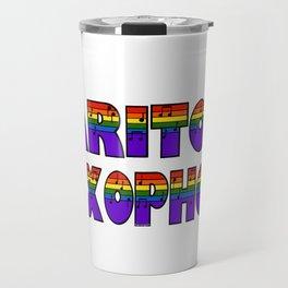 Rainbow Baritone Saxophone Travel Mug
