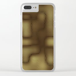 Rattlesnakes Love Geometry Clear iPhone Case
