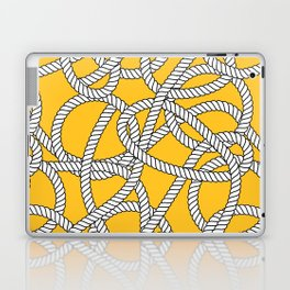 Nautical Yellow Rope Pattern Repeat Laptop & iPad Skin