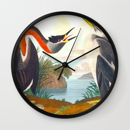 Red-necked Grebe Wall Clock