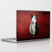 cyberpunk Laptop & iPad Skins featuring EQVVS (Background option) by Obvious Warrior