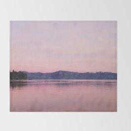 Rose Colored Dream of Lake Tahoe Throw Blanket