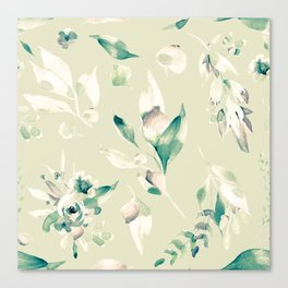 Brew Vintage Seamless Floral Pattern Canvas Print