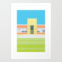 school Art Prints featuring School by smoothimages
