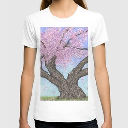 Cherry Blossom Tree Ink and Watercolor  T-shirt