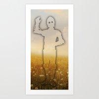 c3po Art Prints featuring C3PO SUNRISE by Vin Zzep