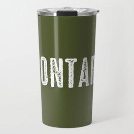 Deer: Ontario, Canada Travel Mug