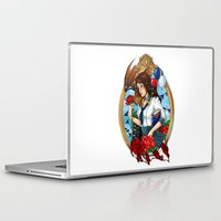 bioshock infinite Laptop & iPad Skins featuring BioShock Infinite by Little Lost Forest