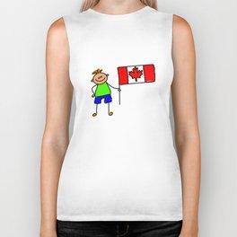 Canadian Flag Kid Biker Tank
