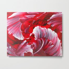 Crimson Swirl Metal Print