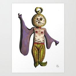 Clock Fish Art Print
