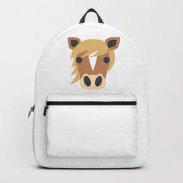Horse Face Emoji Backpack