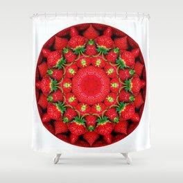 Strawberry season mandala k2 1159 Shower Curtain