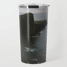 Neist Point Lighthouse at the Atlantic Ocean - Landscape Photography Travel Mug
