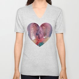 Remedy Sky's Heart Shaped Vulva Unisex V-Neck