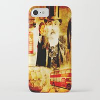 england iPhone & iPod Cases featuring England Vintage  by Ganech joe