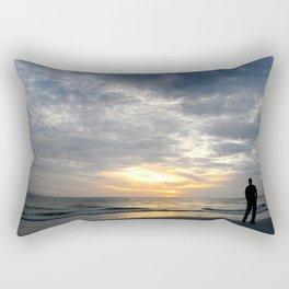 Walk into the sunset.. Rectangular Pillow