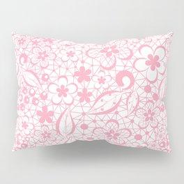 Pink , fishnet , lace Pillow Sham