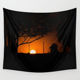 Pampas Sunset. Wall Tapestry