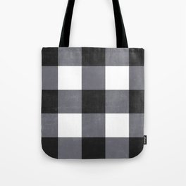 Gingham Dark Style Tote Bag