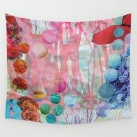 rain Wall Tapestries featuring Rain by John Turck