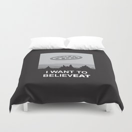 I want to believeat - pizza Duvet Cover
