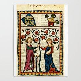 Codex Manesse: Bernger von Horheim Poster