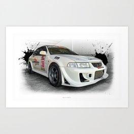 Cars: Mitsubishi Lancer Evo Art Print
