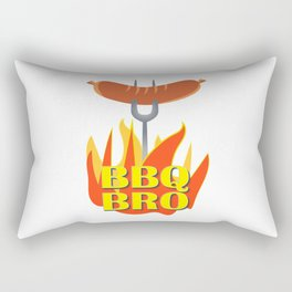 BBQ Bro Your Grill Party Bestie Rectangular Pillow