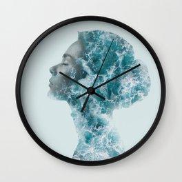 Ocean Lady Wall Clock