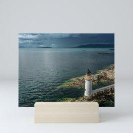 Scottish Lighthouse Landscape Mini Art Print