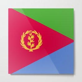 Eritrea flag emblem Metal Print