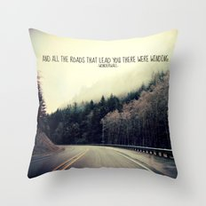 WINDING ROADS ON HWY 101  Throw Pillow