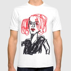 red hair girl MEDIUM White Mens Fitted Tee