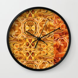 Abstract Chinese Noodle Wall Clock