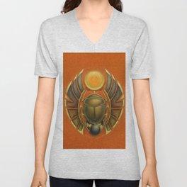 Scarab Beetle Unisex V-Neck