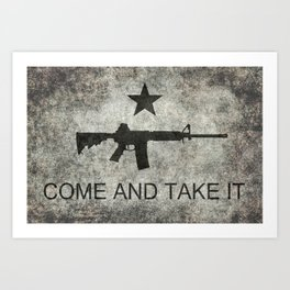 Come and Take it Flag with AR-15 Art Print