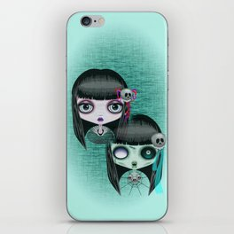 Zombie Doll The Dark Side iPhone Skin
