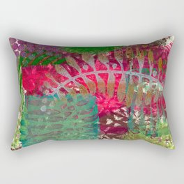 Leaf in pink Rectangular Pillow