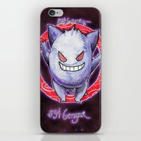 gengar iPhone & iPod Skins featuring 94 - Gengar by Lyxy