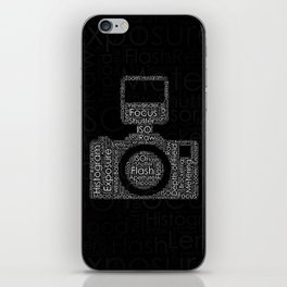 Photography Word Cloud Camera Shape iPhone Skin