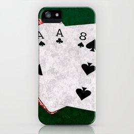 Poker Dead Man's Hand iPhone Case