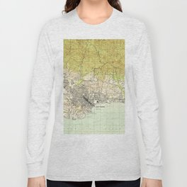 Vintage Map of Santa Barbara California (1944) Long Sleeve T-shirt